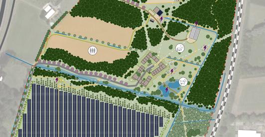 schetsontwerp (detail) Energietuin de Noordmanshoek